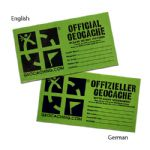 Official Geocache Label - Large